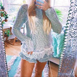 Crochet Beachy Eyelet Speckled Knit ✨